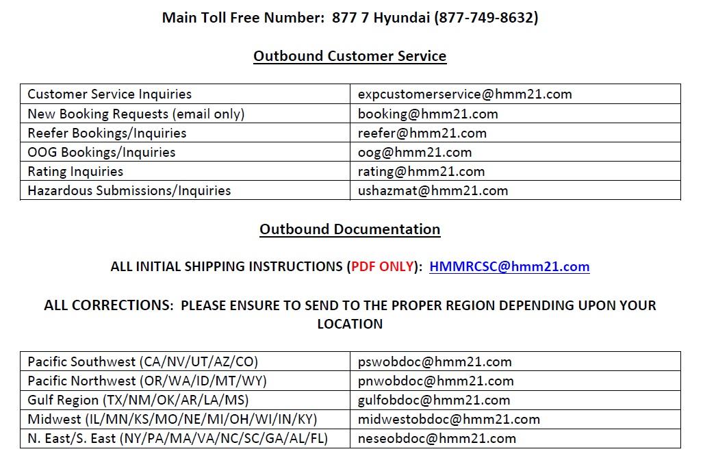 Hyundai Customer Service >> Hyundai Customer Service Center Transition Usa Oceanwide Logistics