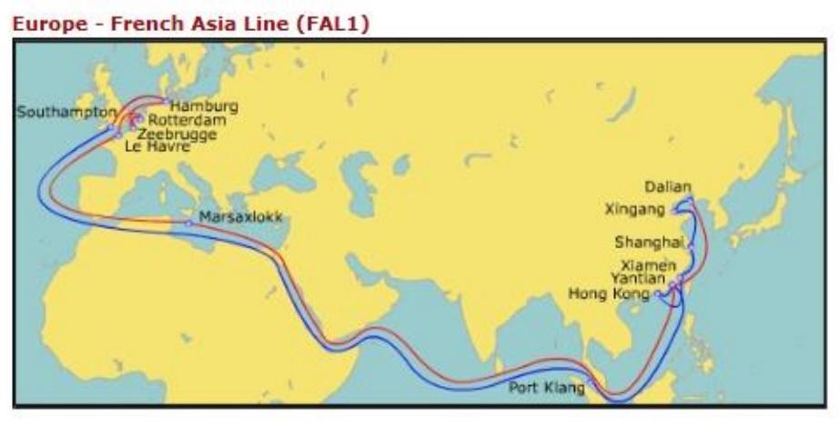 Evergreen new service north continent to marsaxlokk malta - Cma cgm sailing schedule port to port ...