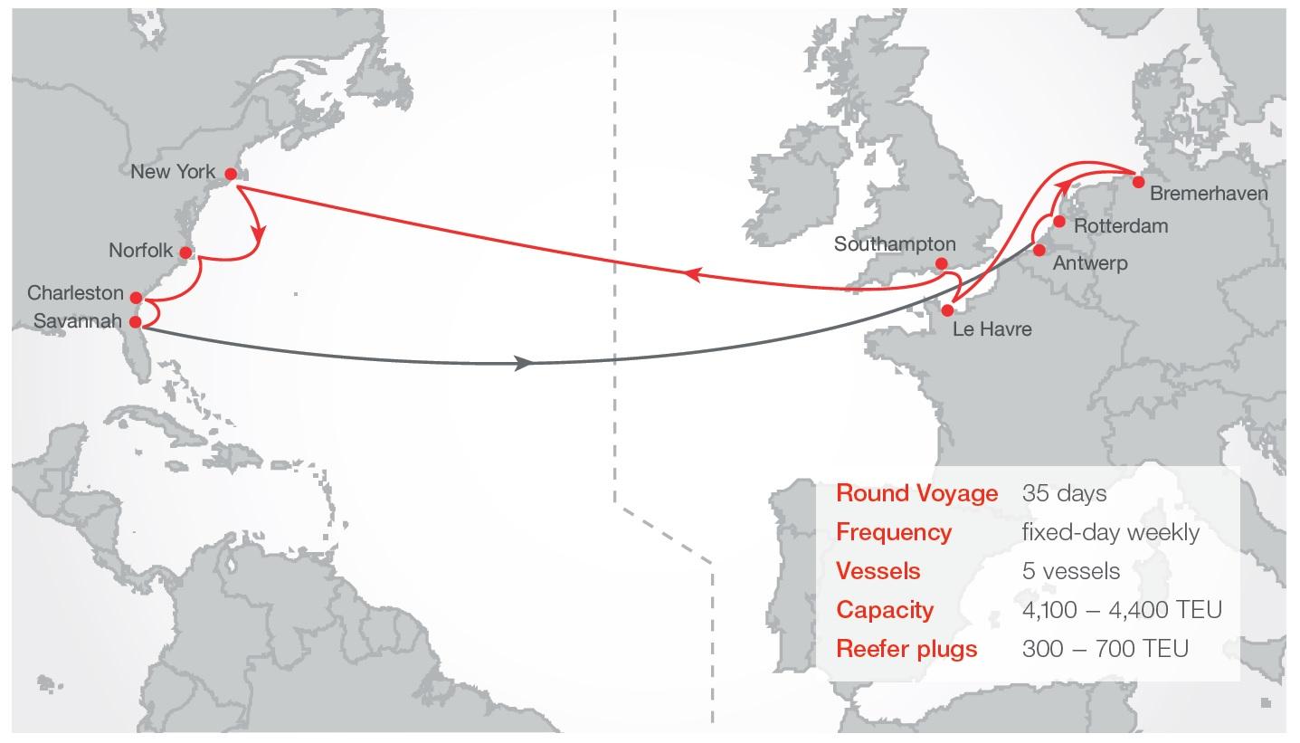 hamburg sued transatlantic service update oceanwide logistics global network. Black Bedroom Furniture Sets. Home Design Ideas