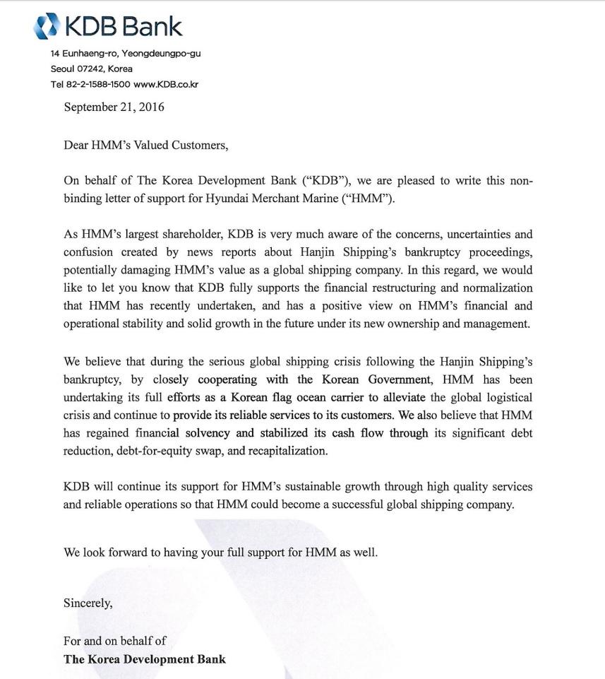 Hyundai Customer Advisory Kdb Support Letter Oceanwide